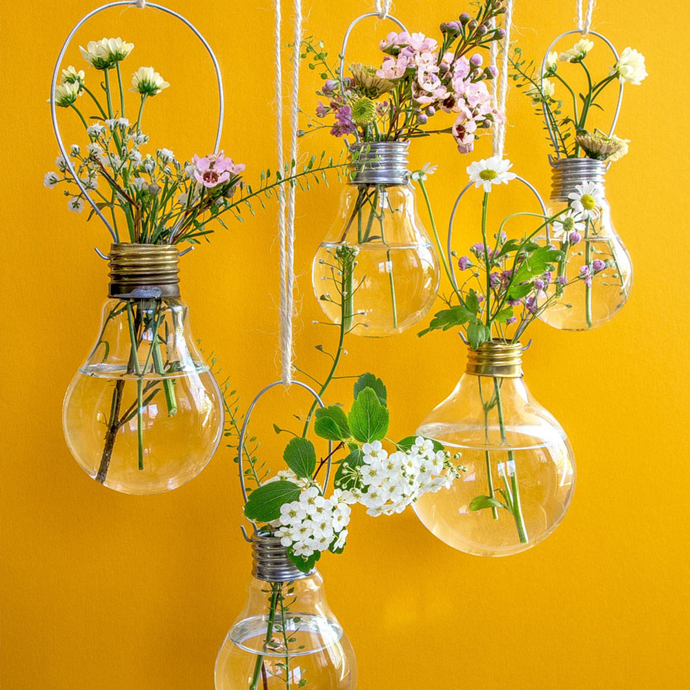 HomelySmart | 10 Wonderful DIY Hanging Wall Vases - HomelySmart