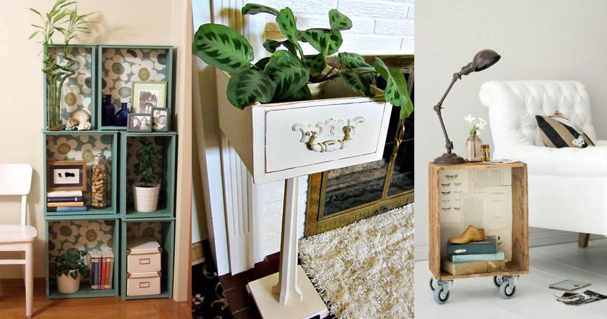 10 Good DIY Ideas To Repurpose Drawers